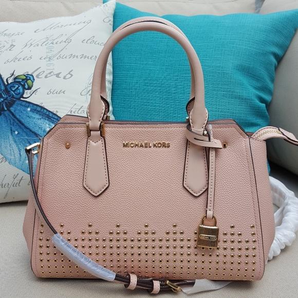 NWT Michael Kors Hayes messenger satchel pastel 45d2e0c7bca8c